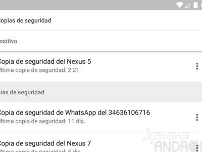 Google Drive para Android: así de fácil es administrar las copias de seguridad de tus dispositivos