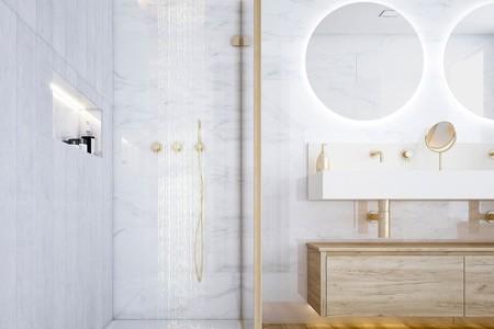 Diseñando el cuarto de baño perfecto; grande, con un gran lavado,  una gran ducha y luz y ventilación natural