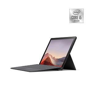 "Surface Pro7: Pantalla de 12,3"" PixelSense multitáctil de 10 puntos, procesador Intel i5 con 8GB de RAM, disco SSD de 128 GB, 1 USB-C, 1 USB-A, Bluetooth 5.0, Cámara frontal de 5,0 MP con vídeo full HD 1080p"