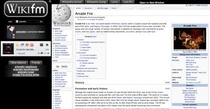 Wiki FM, información de los artistas que escuchas