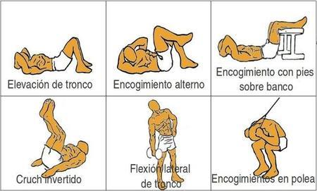 como ejercitar el abdomen en casa