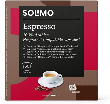 Marca Amazon Solimo Capsulas Espresso Compatibles Con Nespresso 50 Capsulas 1 X 50