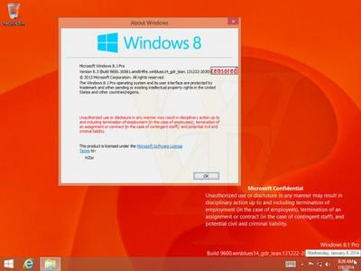Se filtran capturas de la primera GDR de Windows 8.1