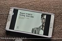 El Kymco Xciting 400i ABS da el salto a los smartphones y tablets