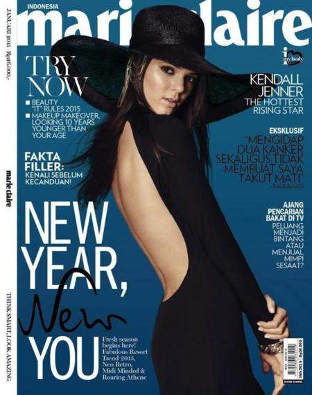 Kendall Jenner Marie Claire Magazine Indonesia January 2015 Cover 1
