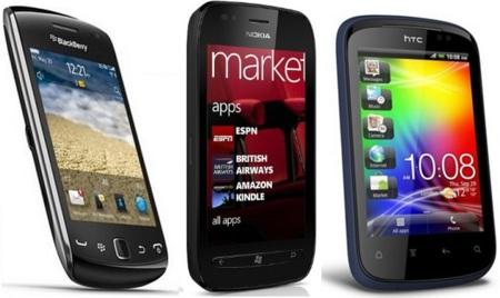 Precios Nokia Lumia 710, Blackberry 9380 y HTC Explorer con Yoigo