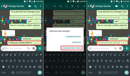 Eliminar Mensajes Whatsapp Mexico