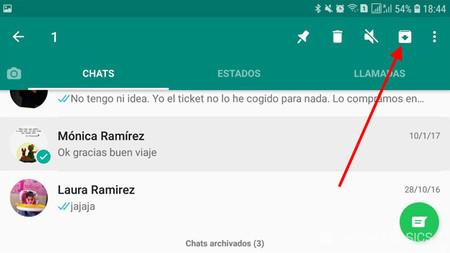 Cómo ver las conversaciones archivadas de Whatsapp