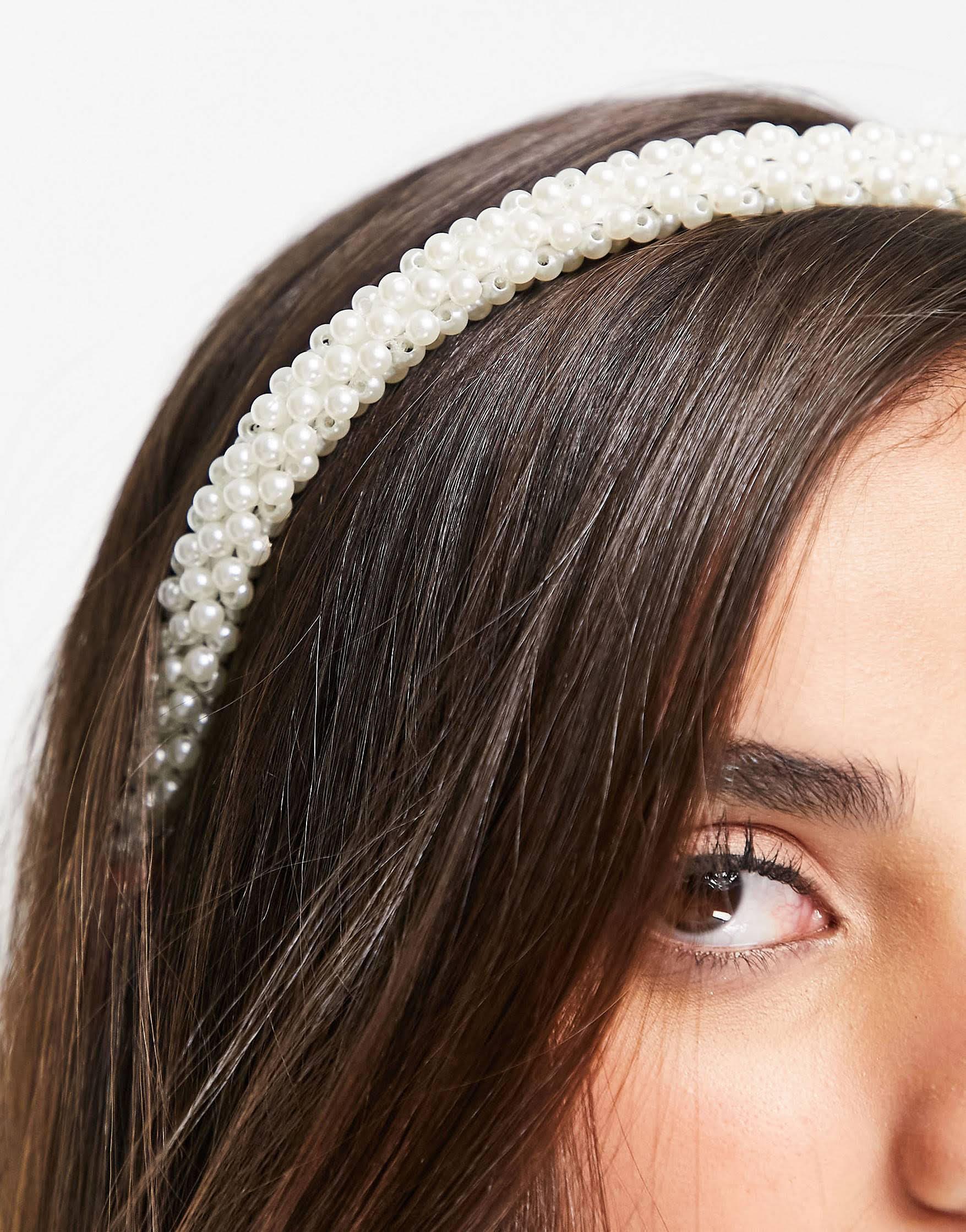 Diadema de perlas de ASOS DESIGN