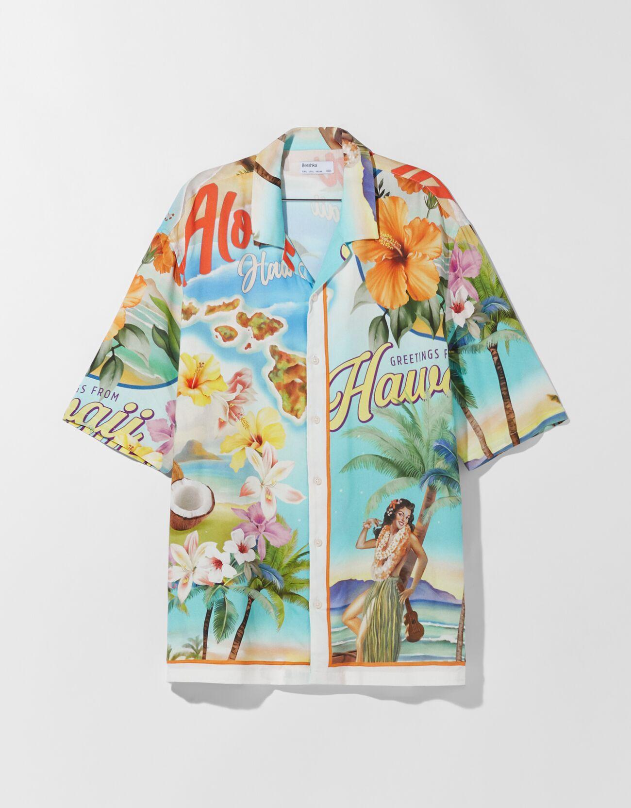Camisa manga corta relaxed fit print.