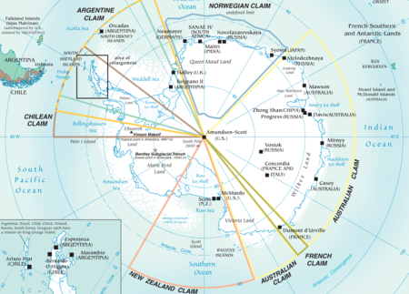 Qué nación reclama qué en la batalla por controlar la Antártida, explicado en un detallado mapa
