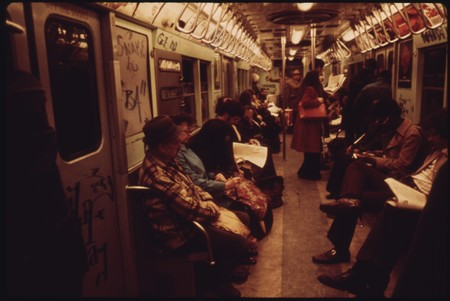 Passengers Aboard The New York City Transit Authority Subway On The Lexington Avenue Line Are Oblivious To The Nara 556653