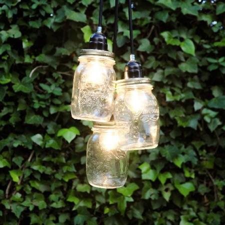 Recicladecoración: las lámparas 'enfrascadas' de Artilujos