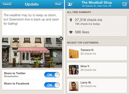 Foursquare presenta Foursquare for Business, su aplicación independiente para gestionar negocios