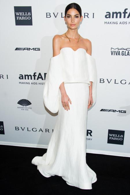Lily Aldridge amfAR 2014