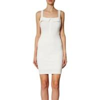 vestido ajustado de Vero Moda blanco