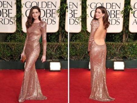 Anne Hathaway Golden Globes