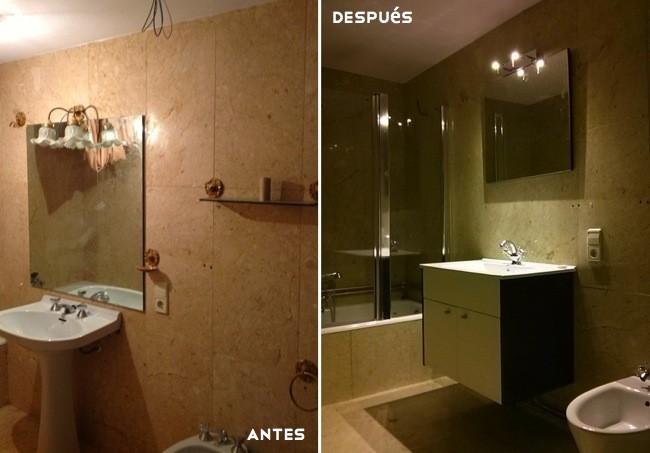 Antes y despu s dos maneras diferentes de renovar un - Renovar un bano ...
