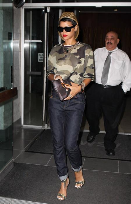 River Island Rihanna look camuflaje