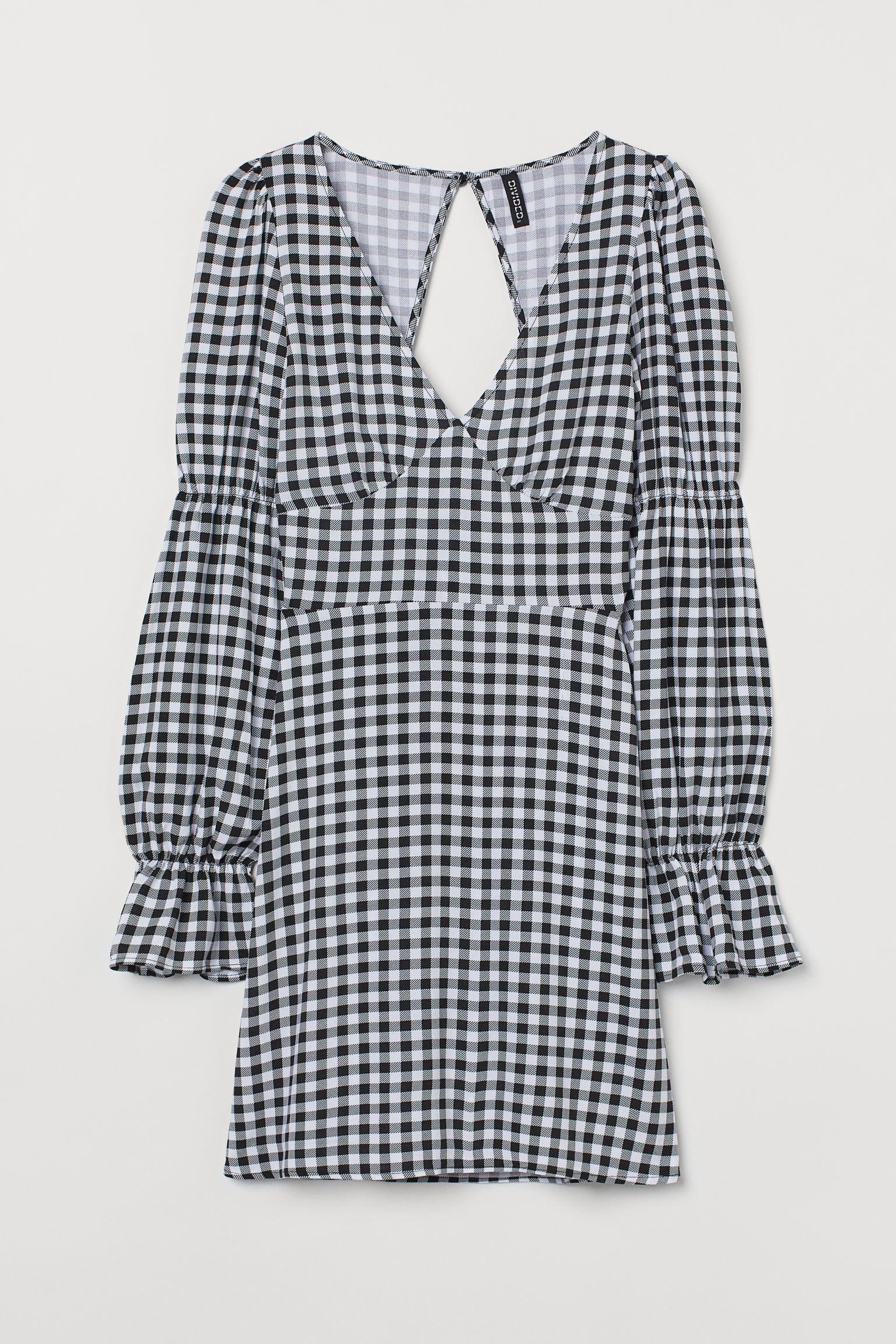 Vestido corto en tejido estampado
