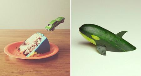 El artista Brock Davis une creatividad, humor y comida fotografiando con su teléfono