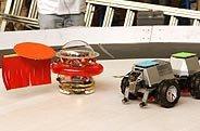 Robot toro contra robot torero