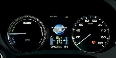Mitsubishi Outlander PHEV cuadro de instrumentos