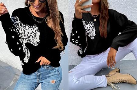 Jersey Con Estampado De Leopardo
