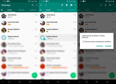 Cómo eliminar una lista de difusión en WhatsApp