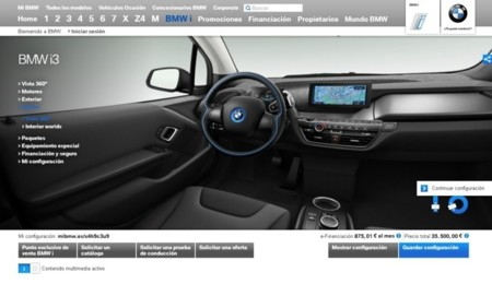 BMW i3 configurador web