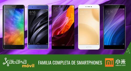 Xiaomi Mi 6, así encaja dentro del catálogo completo de smartphones Xiaomi en 2017
