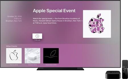 La app Eventos del Apple TV ya está actualizada para recibir la keynote del 30 de octubre