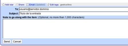 Mejorada la integración de GMail en Google Reader