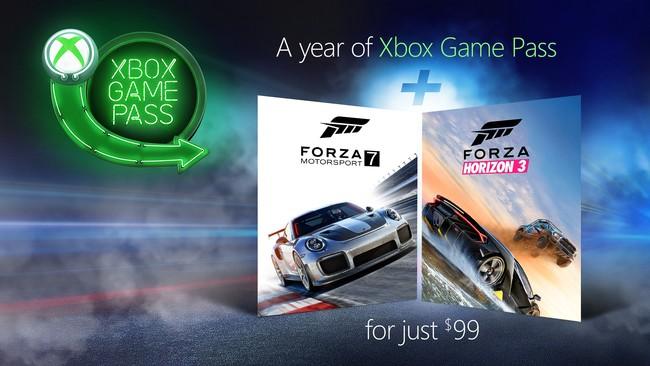 Microsoft apuesta fuerte con Game Pass: un año de suscripción al comprar Forza Motorsport 7 o Forza Horizon 3