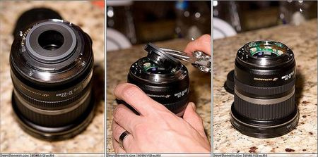 Convertir un objetivo Canon 10-22 EF-S en un objetivo EF