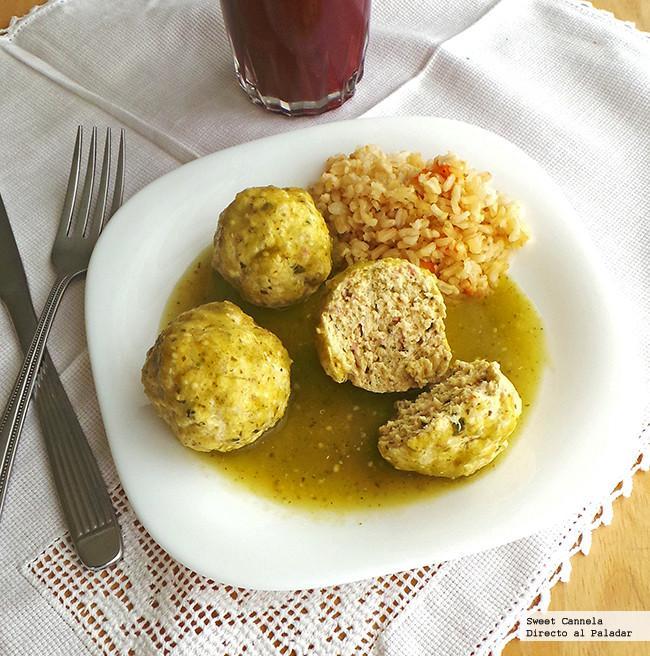 Alb ndigas de pollo en salsa verde receta - Albondigas tradicionales ...