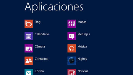 Windows 8 aplicaciones