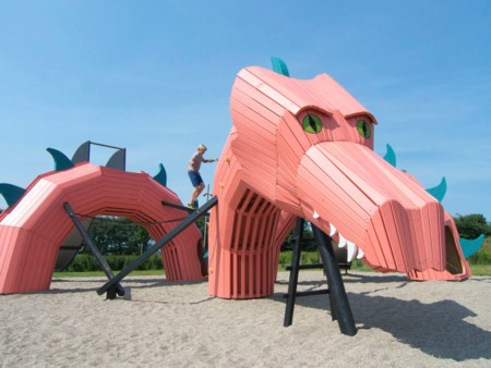 This Dragon Slithers Through The Sand In Mulighedernes Park In Aalborg Denmark