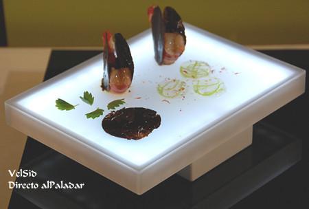 Platos para tapas con LEDs, creación del laboratorio Arzak