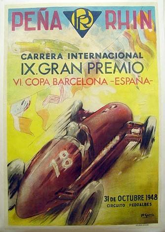 Póster Gran Premio España Pedralbes