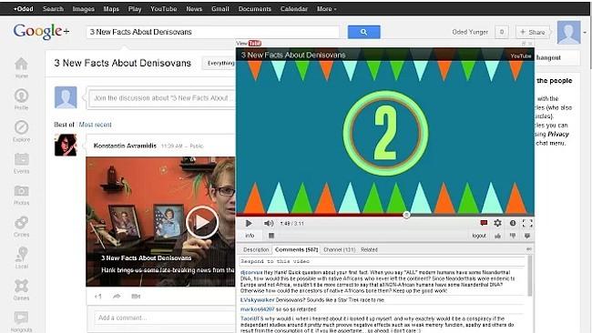 Reproduce en una ventana flotante vídeos de YouTube publicados en Facebook, Google+ y Twitter