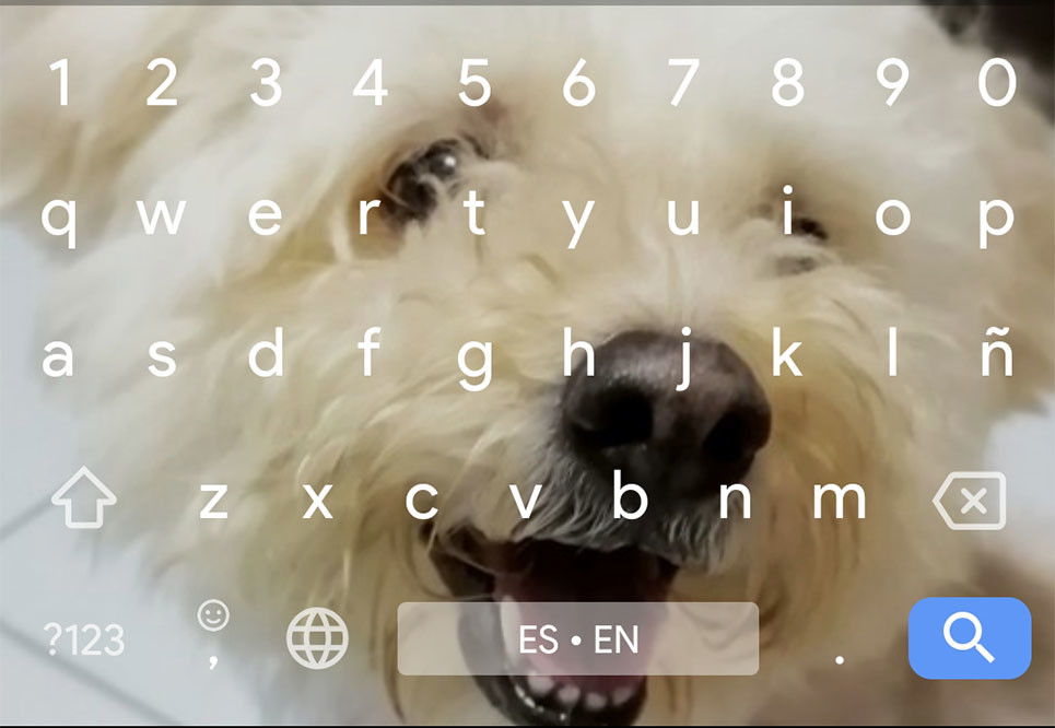 How to use an image as the background screen on the keyboard Gboard