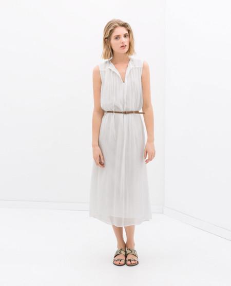 Zara blanco roto vestidos primavera 2014