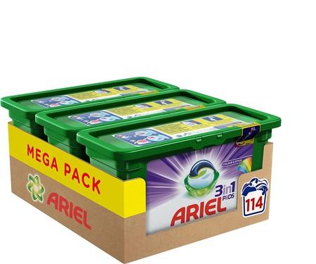 Mega Pack de detergente Ariel 3 en 1 ahora por 29,79 euros: 9,93 euros/unidad