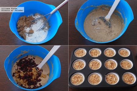 Muffins de Navidad con Mazapan. Pasos