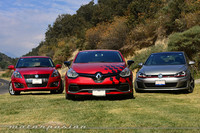 Comparativa: Suzuki Swift Sport vs Renault Clio RS vs Volkswagen Golf GTI (Parte 1)