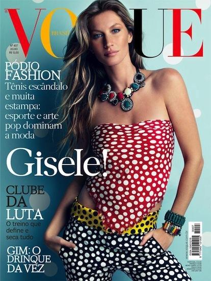 Gisele Bundchen y nada más. La nueva portada de Vogue Brasil