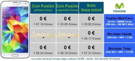 Precios Samsung Galaxy S5 con tarifas Movistar en Xataka Móvil