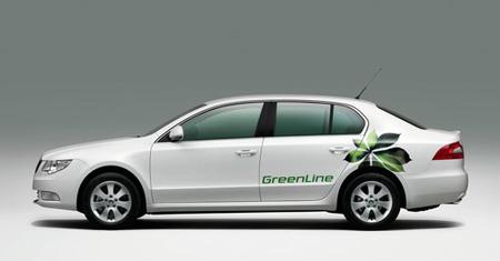 Škoda Superb Greenline, transportando gerifaltes con sólo 105 CV