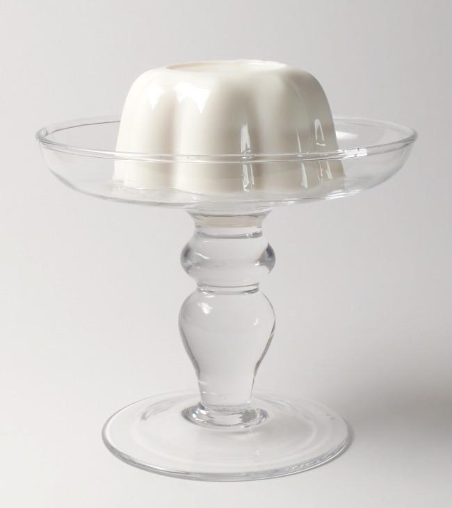 Blanc Manger On Glass Platter Full View